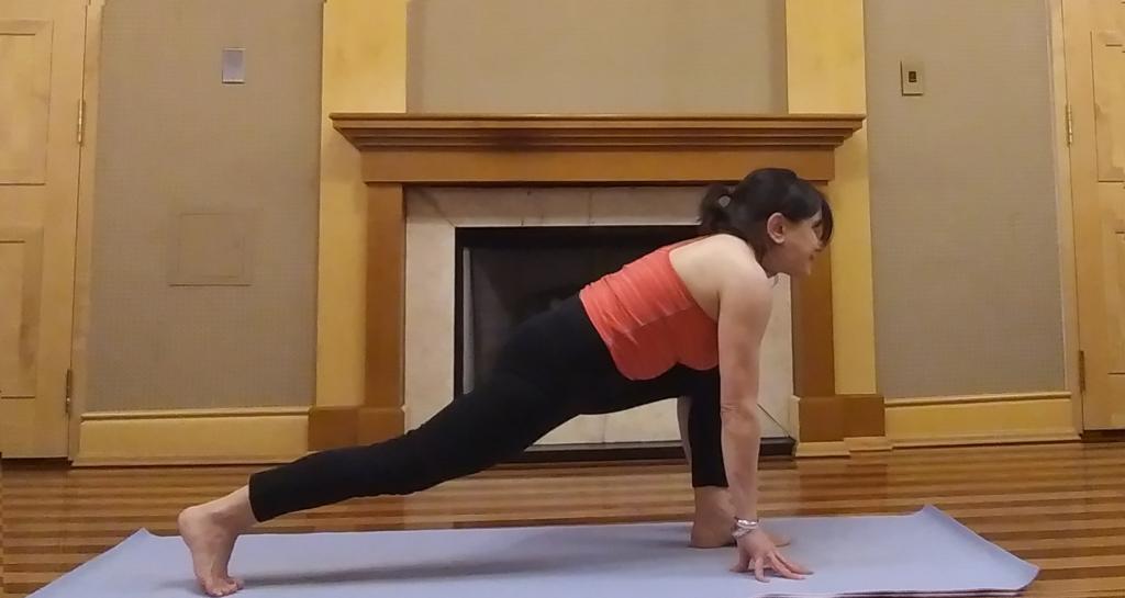 Low lunge, yoga,