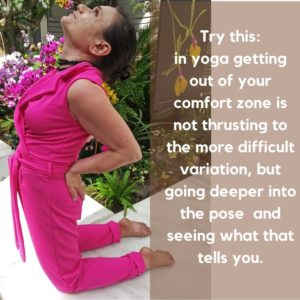 comfort zone, yoga, support