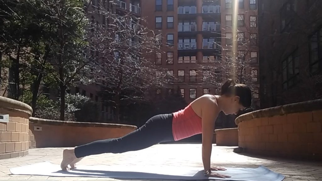 Chaturanga start, yoga