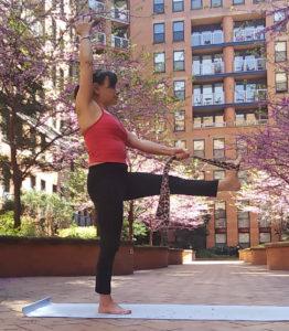 yoga hand to big toe pose strap